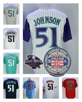 Wholesale Multi Cool - Randy Johnson Jersey with Retirement 2015 Hall Of Fame Patch Arizona Montreal Seattle 51 Jerseys Cooperstown Flexbase Cool Base Stitched