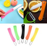 Wholesale gift ceramic knife for sale - Group buy Foldable Ceram Ceramic Knife Gift Knifes Pocket Ceramic Folding Knives Kitchen Fruit Vegetable Paring Parer With Colourful ABS Handle
