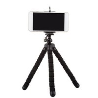универсальный держатель для универсального телефона оптовых-Гибкий держатель штатива для сотового телефона камеры автомобиля универсальный мини осьминог губка стенд кронштейн Selfie монопод крепление с зажимом хорошо