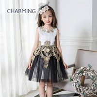 Wholesale Kid Girl Clothing Model - Brand new fashion kids clothes Designer children clothing Quality printed round neck sleeveless dress Best wholesale suppliers from china