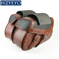 Wholesale princes bags - New Motorcycle Saddlebag Moto Bags Saddle Bag Motorbike Bag For Harley-Prince 400, faux leather