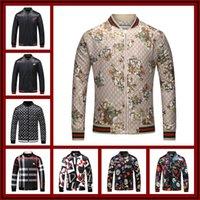 Wholesale pearl suspenders - Italy Luxury Brand Medusa 3D Print Jackets Long Sleeve Hooded Jacket Men's Casual Windbreaker Jackets Snake Printing Men Clothing M -3XL