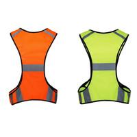 outdoor uniform jacken großhandel-2018 Sommer Unisex Sicherheit Weste Pouch Reflektierende High Visibility Jacke Outdoor Weste Uniform Einstellbare Taille Uniform Sportswear