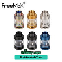 Wholesale Fire Carbon - Freemax Fireluke Mesh Sub Ohm Tank Atomizer 3ml Carbon Fire Resin Stainless Steel Types With Mesh Coil Top Refill Adjustable Bottom Airflow