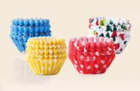 Wholesale Wholesale Mini Cupcake Liners - Mini size Assorted Paper Cupcake Liners Muffin Cases Baking Cups cake cup cake mould decoration 2.5cm base