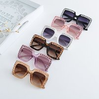 Wholesale anti ultraviolet - Vieeoease Girls Sunglasses 2018 Summer Fashion Baby boomer Diamond eye sun glasses anti ultraviolet children sunglasses EE-123