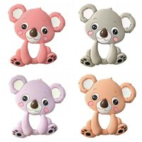 Wholesale Baby Koalas - Silicone Baby Teethes Toys Koala Animal Design Molar Stick Creative Food Grade Teething Props Teether Pacifier Toy Accessories 8jh Z