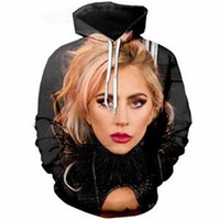 Wholesale lady gaga for sale - New Fashion Casual Harajuku Hoodies Unisex d Print Singer Lady Gaga Hoodies Pullovers Graphic Sweatshirts A62