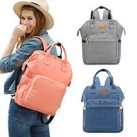 Wholesale maternal bags - Diaper Bag Backpack Organizer Mummy Maternity Nappy Bags Large Capacity Baby Diaper Bags Waterproof Travel Handbag Maternal Bag