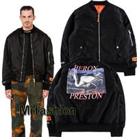 Wholesale Coats Chinese Collars - New York Fashion High Quality Chinese Style Heron Preston Men Women Street Luxury Cotton Jaket Casual Winter Long Sleeved MA1 Coat