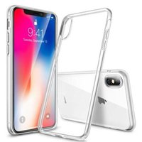 ingrosso iphone trasparente ultrasottile-Custodia in cristallo trasparente ultrasottile TPU per iPhone X XS MAX XR 8 7 6 plus Samsung S9 S8 nota 9 DHL