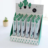 Wholesale Pet Office - 36 Pcs lot Creative Cactus Animal Pet Gel Pen Promotional Gift Stationery School & Office Supply