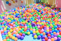 Wholesale balls pits online - cm thick eco friendly marine ball baby bath ball children outdoor toy ball wave balls multicolor