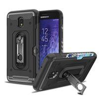Wholesale case hybrid j2 for sale - Hybrid Armor Cases With Cardslot Kickstand For Samsung A6 A8 Plus J3 J7 J8 J2 Pro J5 Prime LG G7 G6 Q8