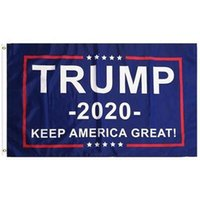 Wholesale usa great - 90*150cm Trump 2020 Flag Double Sided Printed Donald Flags Keep America Great Again Polyester Decor Banner For President USA CCA9810 50pcs