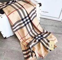 bufanda de cachemira caliente al por mayor-Lujo invierno bufanda de cachemira Pashmina para mujer diseñador de la marca para hombre bufanda a cuadros caliente moda mujer imitar bufandas de lana de cachemira 180x70 cm