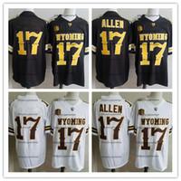 jerseys de futebol frete grátis venda por atacado-Homens 17 Josh Allen NCAA Wyoming Vaqueiros College Football Jersey Costurado marrom Búfalo Branco Josh Allen Jerseys S-3XL frete grátis