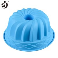 Wholesale Pumpkin Baking - SJ 24*10.5cm 210G Big Pumpkin Shape Silicone Baking Mold 3D Cake Pan Silicone Cake Mold Baking Tools For Bakeware Tool New