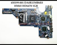 Wholesale motherboard for hp g6 - High quality 650199-001 For HP Pavilion G4-1000 G6-1000 Laptop Motherboard 650199-001 DA0R13MB6E0 HM65 PGA989 DDR3 HD6470 1GB