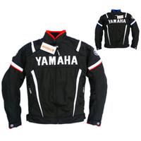 malla de montar chaquetas de moto al por mayor-Envío gratis Moto GP Motociclismo Ropa Ropa Malla de verano Montar Conducción Moto Ropa Yamaha Chaqueta Con Protectores