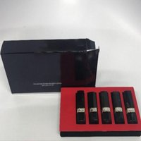Wholesale mini lipsticks for sale - New Arrival Luxury Brand Rouge mini Set Matte Lipstick With Box color mixed by dhl