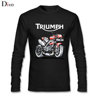 Wholesale Family Tees - Speed Triple 1050 Triumph Motorcycle Men Man's Backing Tees Shirt Fashion Long Sleeve Father's Day Custom Family Tee Shirts