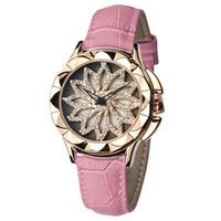 tapas de mesa de rosa al por mayor-Nuevo reloj de señoras giratorio de moda para mujer de moda. Reloj de cuarzo dorado. Marca de lujo. Reloj de lujo.