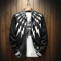 Wholesale Product Stands - Spring and Autumn Men's Coat Casual Collar Jacket Korean Slim Print Baseball Clothing Trend Clothes Autumn Men Spring and Autumn New Product