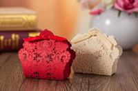 caixas doces da marinha venda por atacado-500 pcs Frete Grátis Vermelho / Branco / Ouro / Azul Marinho Cortar A Laser Caixas De Favores Do Casamento Caixa De Doces Favores E Presentes De Casamento De Casamento