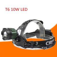 faro faro lámpara de zoom ajustable al por mayor-Faros LED Aluminio 8000LM T6 Zoom Faros Led Linterna Linterna Cabeza Ajustable 18650 Batería Antorcha Recargable Frontal Luz Exterior
