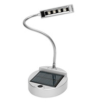 Wholesale Night Reading - iTimo Solar Battery Powered Reading Hot Desktop Table Lamp Flexible Gooseneck Style 4 LED Desk Night Light USB Charge