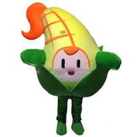 disfraz de mascota de verduras al por mayor-Descuento venta de fábrica Cute Corn Vegetable Mascot Costume Fancy Party Dress Halloween Carnavales Disfraces