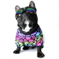 Wholesale cotton tank top pattern - Benmei Spring Summer Dog Printing Skull Pattern Colorful Vest Dog Cotton Shirt Puppy Fashion Pet Dog Tank Top Clothes