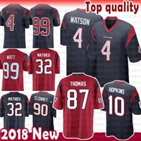 Wholesale tyrann mathieu jersey online - 87 Demaryius Thomas Houston Jersey  Texans Deshaun Watson J J Watt b2b39ce29