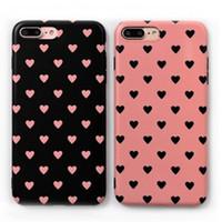 amo maçãs venda por atacado-Adorável amor bonito fosco hard drop case capa para iphone x 8 7 ultra fino casos de telefone celular fosco