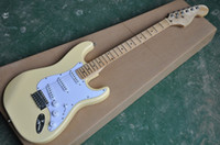 heiße verkauf gitarre groihandel-Heißen Verkauf gute Qualität Yngwie Malmsteen E-Gitarre überbackene Griffbrett bighead Korpus aus Linde Standardgröße