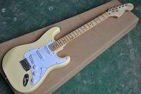 guitarra yngwie al por mayor-Venta caliente de buena calidad Yngwie Malmsteen la guitarra eléctrica de cuerpo festoneado diapasón cabezona tilo tamaño estándar