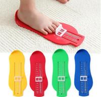 zapatos de los pies de la novedad al por mayor-Bebé Souvenirs Foot Shoe Measure Measure Gauge Tool Dispositivo Regla de Medición Novedad Footprint Makers Divertidos Gadgets Regalo de Cumpleaños