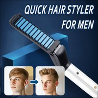 Wholesale Multifunctional Hair Comb Curling Iron Hair Volumize Flatten Side and Straighten Curler Show Cap Quick Styler for Men