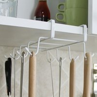 Wholesale Kitchen Hanging Organizer Rack Mug Storage Holder Hook Under The Shelf Hot Sale Kitchen Hanging Organizer