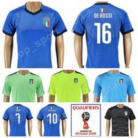 Thai Italy Football Shirt Kits maglietta da calcio Italia 2018 World Cup  Soccer 16 Giuseppe DE ROSSI Jersey 19 Leonardo Bonucci 3 Chiellini dd5b82948