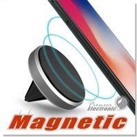 auto-belüftungsclips großhandel-Auto Mount Halter Clip für Smartphone Universal Premium Magnetic Air Vent Aluminium Rahmen Phone Holders für iPhone 6 7 Plus mit Retail Pack
