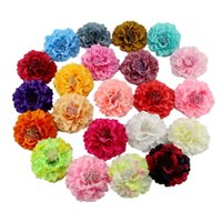 Wholesale peony clip flowers for sale - Silk Artificial cm Peony Head Flower Wedding Corsage Bridal Decoration Headdress Bouquet Accessories Hair Clip Headwear Pins Brooches