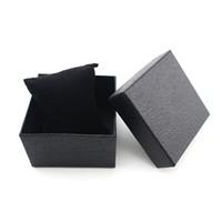 симпатичные браслеты оптовых-Hot Pretty Durable Present Gift Hard Case For Bracelet Bangle Jewelry Watch Box Black Unique design wholesale Sep21
