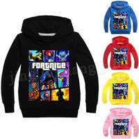Wholesale boys hoodies online - 19 Colors Kids Fortnite Casual Sweatshirt Baby boy Cotton Spring Fall Hoodies Pullover Long Sleeve Blouse Fortnite Sweatshirts MMA188