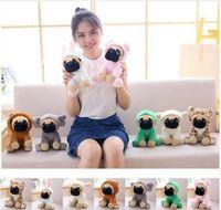 Wholesale stuffed animals dogs for sale - 20cm Plush Stuffed Simulation Cute Dogs Sharpei Pug Puppy Pet Toy Stuffed Plush Animal Toys For Children Gift KKA6072