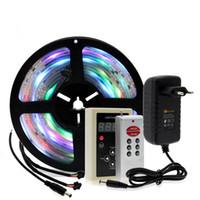 controlador de color de sueño 133 al por mayor-6803 IC Dream Color RGB LED Strip 5050 30LED / m IP67 Impermeable 5M + 133 Programa RF Magic Controller + Adaptador