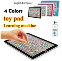 Wholesale Children Education Pad - newest Learning Toy game Tablet pad chinese English Computer Laptop Y Pad Kids Game Music Education Christmas Electronic Notebook to345