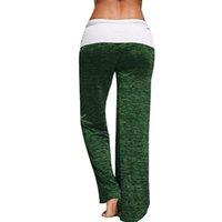 xxl sexy 15 großhandel-Womail 2018 Frauen Kordelzug Breite Bein Hohe Taille Lange Lose Hosen Yoga Hosen Training Laufhose Frauen Sexy @ 15