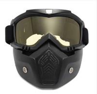 meia capacetes xxl moto venda por atacado-Modular Máscara Flexível Óculos Óculos Boca Filtro Anti poeira Areia Vento para o Rosto Aberto Da Motocicleta Meia Capacete ou Capacetes Do Vintage